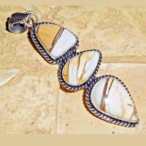Jewelry - Artisan Natural Mookaite Jasper 925 Silver Pendant